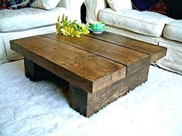 rustic plank coffee table outstanding wood solid throughout design 5