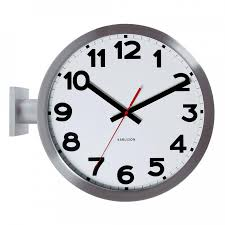 up to 40 free uk delivery on this item without numbers with numbers karlsson double sided wall clock
