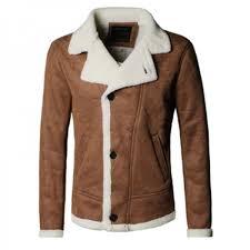 autumn vintage old leather jacket men wool lining men warm fur collar jacket mens faux leather short jacket fur coat
