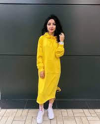 Желтое платье-толстовка - 1650 грн Yellow hoodie dress - $ 105 ...