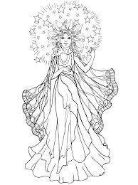 Girl Angel Coloring Pages Anime For Adults Fairy Colouring Dark