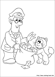 pstman pat colouring pages