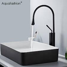 2019 bathroom faucet 360 swivel spout basin sink mixer single handle white kitchen faucet black basin from donaold 78 52 dhgate com