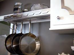 Modern Kitchen Dish Drying Rack White Painted Wooden Cabinet Over The Sink  Charcoal Backsplash Pan Rack Design Chrome Mushroom Knobs