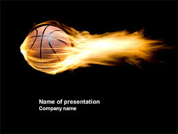 Basketball Powerpoint Template Flaming Basketball Powerpoint Template Backgrounds 04054