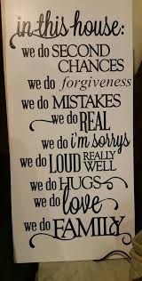 In This House We Do Forgiveness Family Quote Wooden Wall Sign 40x40 Custom Family Quotes On Pinterest