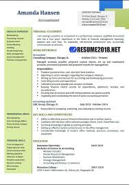 resume for an accountant accountant resume examples 2018 resume 2018