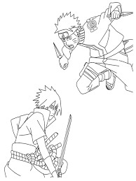 Naruto Coloring Pages Printable Downloadfree For Kids Tearing Sasuke