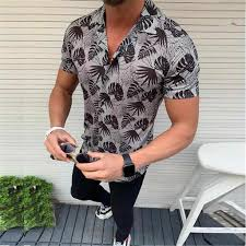 Men <b>Summer</b> Gray Leopard Printed <b>New Style European</b> Short ...