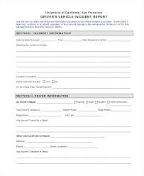 Accident Report Form Template Incident Free Format Sample Employee