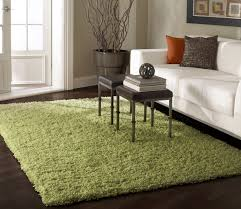 amazing area rugs in lime green fur rug on awesome dark brown wood floor and beauty white sofa combined with small square steel table for living room