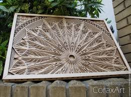 coraxart wood wall art mandala wood art modern art home