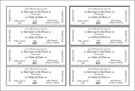 Microsoft Publisher Ticket Template Salonbeautyform Com