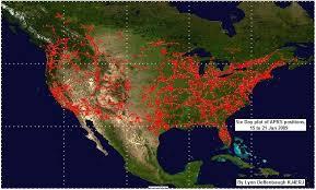 Amateur radio aprs map