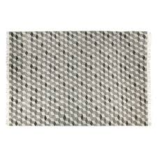 galloway large grey wool flatweave rug 170 x 240cm