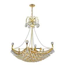 worldwide lighting empire collection 6 light polished gold crystal chandelier