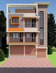 Elevation Design Photos Residential Houses Commercial Cum Residential Building Front Elevation