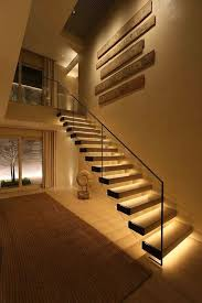 Image Motion Sensor Stairways Lighting Ideas Led Light Strips On Stairway diyhomedecor dreamhouse livingroomideas stairways stair stairs Pinterest 17 Top Stairway Lighting Ideas Spectacular With Modern Interiors