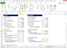 Simple Balance Sheet Excel Profit And Loss Statement Template Free To Simple Excel