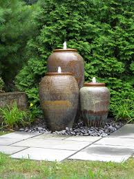 urn water fountain three urn pottery water fountains with line details and color gradation outdoor urn urn water fountain