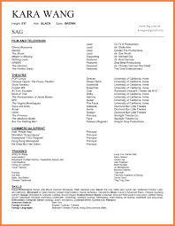 Theatre Resume Format Musical Theatre Resume Template Theatrical