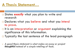 writing a thesis statement a thesis statement  states exactly  a thesis statement  states exactly what you plan to write and research  declares