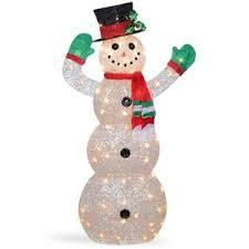 Crystal Snowman Christmas Indoor/Outdoor Decoration Outdoor Winter Decorations | Wayfair