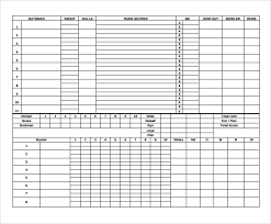 Cricket Score Card Format Cricket Score Sheet Samples Examples Templates 10
