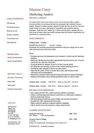 marketing analyst resume example sample template sales research resume template