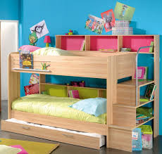 bunk bed with stairs for girls. Twin Bunk Beds With Stairs White Painted Oak Wood Girls Bed Over Full Size For