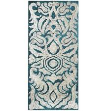 teal damask wall art