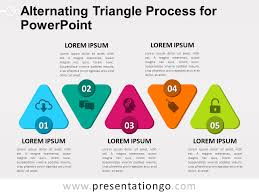 view larger image free alternating triangle process for powerpoint
