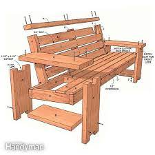 perfect patio combo wooden bench plans