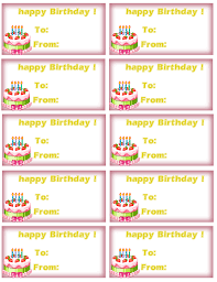 Birthday Tags Template Free Tag Free Printable Tags Party Supplies Birthday Gift Tag