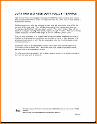 Funeral Work Excuse Letter Business 1 Jury Duty Template Employer