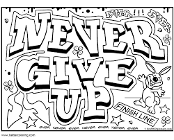 Quotes Of Growth Mindset Coloring Pages Never Give Up Free