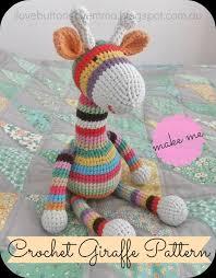 Crochet Giraffe Pattern Magnificent I Love Buttons By Emma Crochet Giraffe Pattern