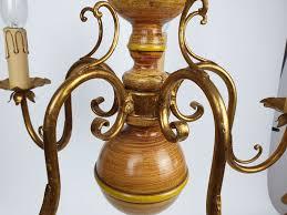 Kronleuchter 5 Flammig Aus Holz Dekoration Aus Allen