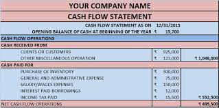 cash statements download cash flow statement excel template exceldatapro