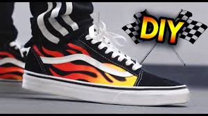 gucci vans custom. giveaway + how to: hot rod flame vans custom \u0026 on feet | blending with a paintbrush technique gucci