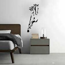 wild running horse art vinyl wall sticker animal creative wall decal for home decor cartoon wall stickers wall decor stickers kids room stickers online with  on horse wall decor stickers with wild running horse art vinyl wall sticker animal creative wall decal