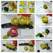 view in gallery ribbon flower hair clip f