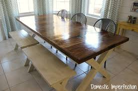 farmhouse table and metal chairs