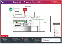 evacuation diagrams   risklogicsample evacuation diagram