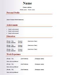 cv templates    free word downloads   cv writing tips   cv plazafashion cv template
