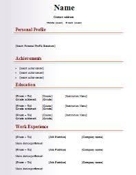 resume word template blank cv  seangarrette cofashion cv template blank resume template free word