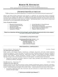 Resume For Electrician Sample Resume For Electrician Resume For
