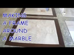 how to install prefinished hardwood frame around a marble tile mryoucandoityourself
