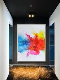 large vertical wall art original abstract painting on canvas large vertical contemporary large vertical metal wall