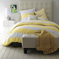 white and yellow duvet cover the duvets